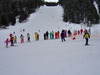 Kids alpine ski competition in Borovets