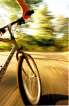 Bicycle riding in the mountainous resort Borovets mark the end of the ski season